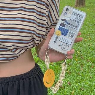 Ốp Lưng Điện Thoại Phối Móc Khóa Hình Mặt Cười Dành Cho Iphone 7 8plus Se 2020 X Xr Xsmax 11promax