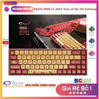 [Giá đàm phán nhé]Bàn phím cơ AKKO 3068 v2 2021 Year of the Ox hotswap bluetooth 5.0 Led nền RGB, 18 chế độ Led thumbnail