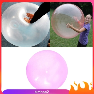 "[SIMHOA2] 3Pcs Firm Bubble Ball Soft 47"" Stretch Balloon Toy Balls Outdoor Pool Toy Game"