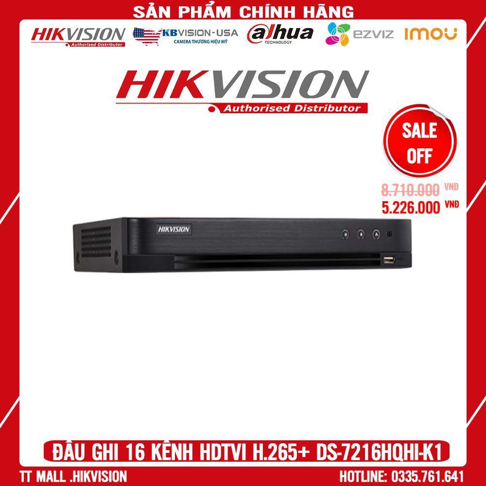 . Đầu ghi hình HD-TVI 16 kênh TURBO 4.0 HIKVISION DS-7216HQHI-K1 MIỄN PHÍ TÊN MIỀN .