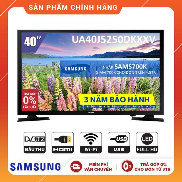 [Nhập SAMS700K Giảm 700K] Smart Tivi LED SAMSUNG 40 Inch UA40J5250DKXXV