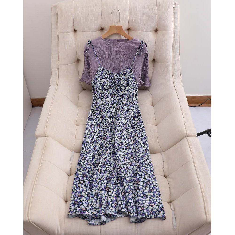 Đầm yếm hoa tím hót hít