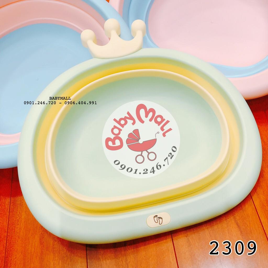 Chậu rửa mặt vương miện GẤP GỌN 4201 hình bầu