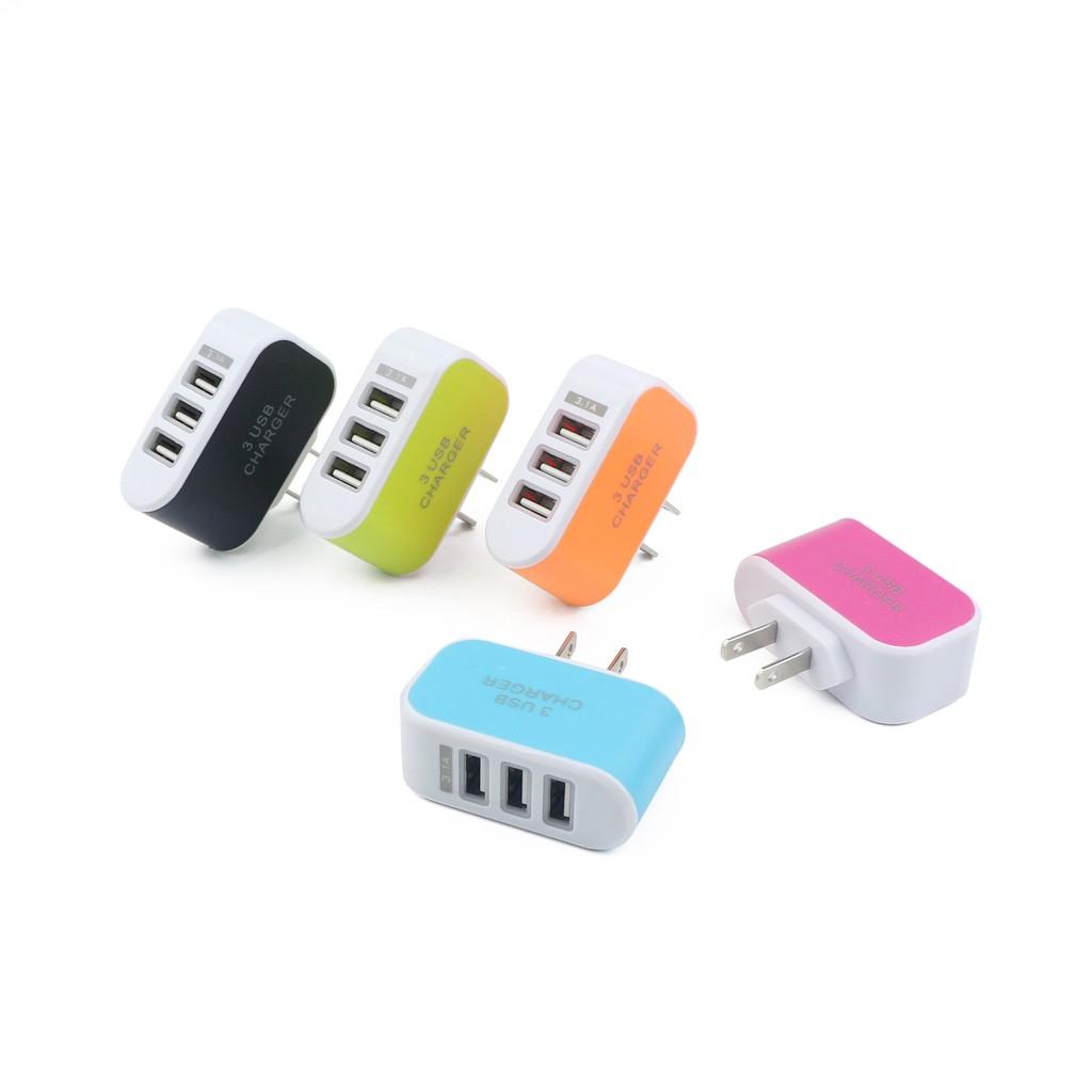 Cốc sạc 3 cổng USB 3.1A tiện ích