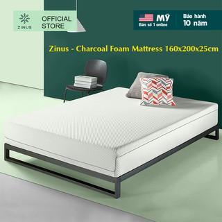 Nệm foam cuộn hút chân không than hoạt tính cao cấp Zinus - Charcoal Foam Mattress 160x200x25cm