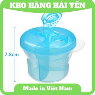 Hộp chia sữa, thức ăn dặm xoay tròn 3 ngăn cho bé trai bé gái hàng Thái Lan