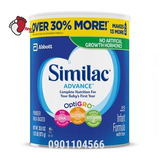 Sữa bột Similac Advance OptiGro miễn dịch của Mỹ date 2022 – 873g