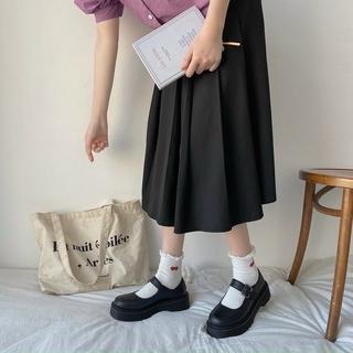 Giày Nữ Thời Trang Độn Đế Phong Cách Mới Lolita Cài Quai Da Pu thumbnail