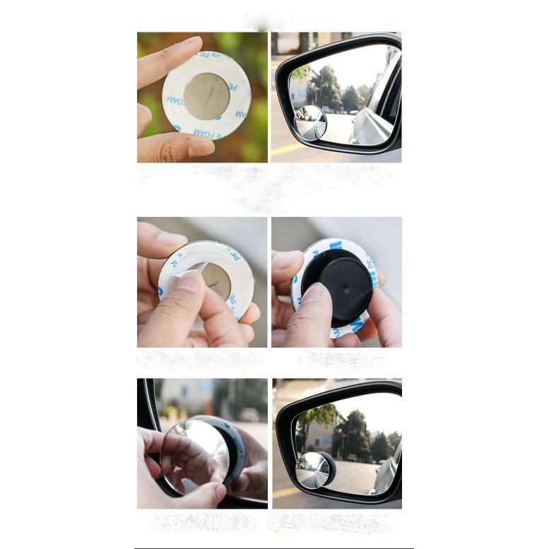 Gương chiếu hậu ô tô  cầu lồi xoay 360 độ  gắn gương  xe ô tô BestCare