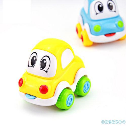 ♛♚♛Cute Cartoon Smiling Face Inertial Car Taxi Minibus Children Toy Car Christmas gifts
