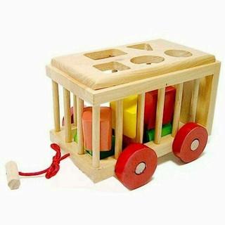 Xe cũi thả hình gỗ mộc