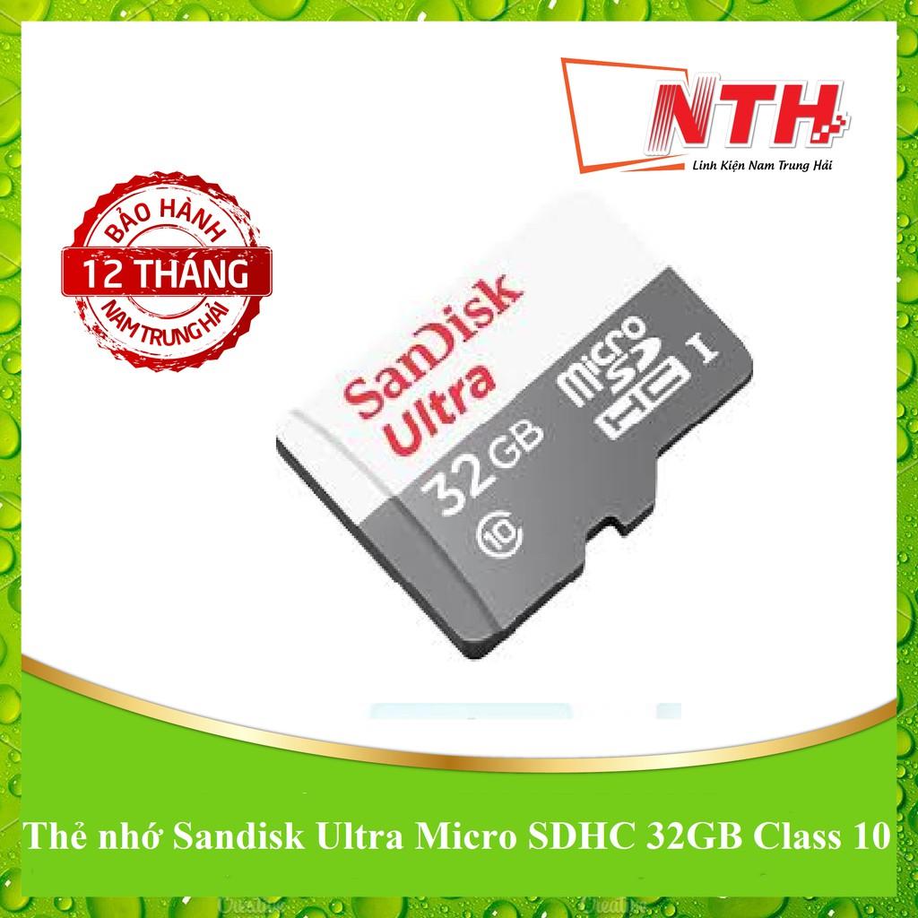 [BẢO HÀNH 60 THÁNG] Thẻ nhớ Sandisk Ultra Micro SDHC 32GB - 48MB/S - CLASS 10