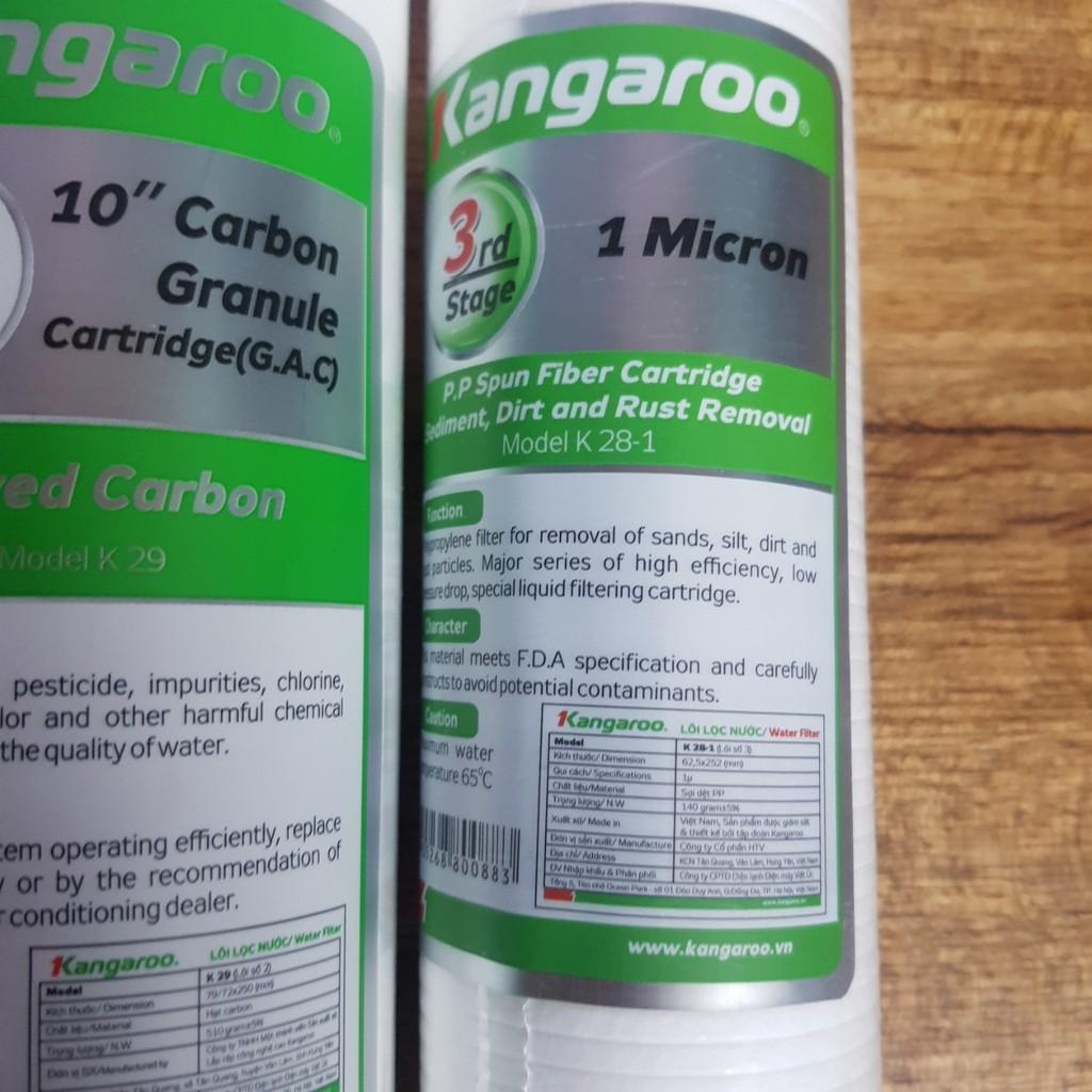 Bộ 3 lõi lọc nước Kangaroo chính hãng số 123