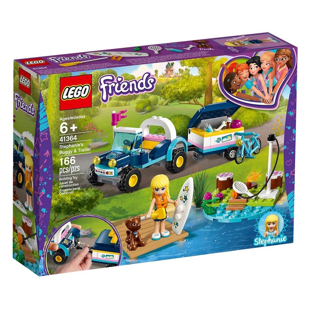 Mô hình Lego Friends - Xe Dã Ngoại Kèm Vali Kéo Của Stephanie