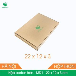 MD1 - 22x12x3 cm - 100 Thùng hộp carton trơn đóng hàng thumbnail