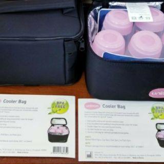 Túi giữ nhiệt lạnh Unimom kèm 05 bình trữ sữa 150ml và 2 túi gel đá khô Hàn Quốc