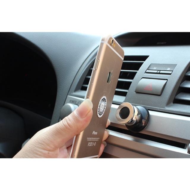 Giá đỡ đế hít nam châm cho điện thoại 360 độ trên xe hơi