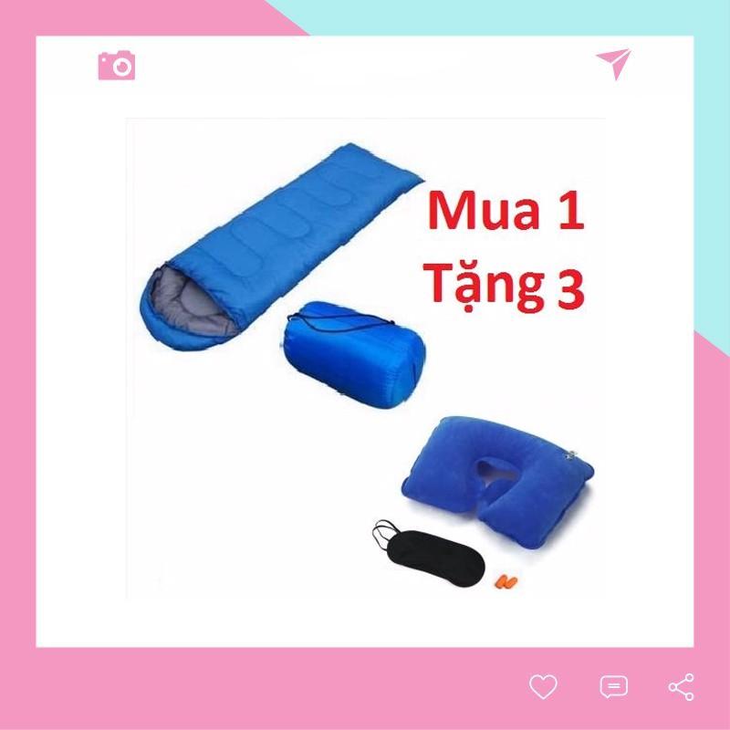 Túi Ngủ Văn Phòng Du Lịch Tặng Kèm 1 Bộ Gối Chữ U + 1 Bịt Mắt + 1 Bịt Tai TN01