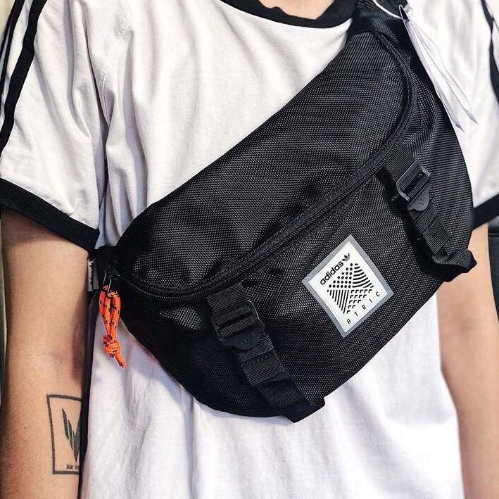Túi đeo chéo nam nữ adidas Atric Bum Bag/ tui deo cheo/ tui unisex/ túi ulzzang/ bao tử / tui bao tu/ balo/ túi chéo da