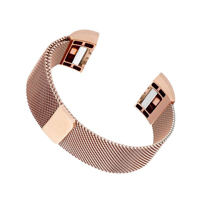 Milanese Loop Stainless Steel Bracelet For Fitbit Charge 2, Rose gold
