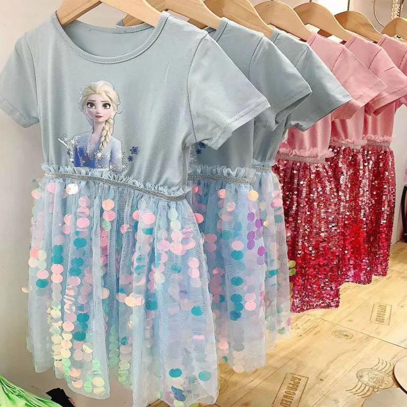 Đầm Công Chúa Elsa Dành Cho Bé Gái