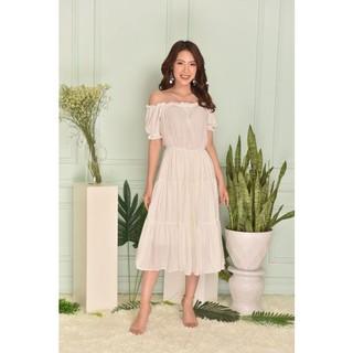 Váy maxi trắng chun vai - G Beauty thumbnail