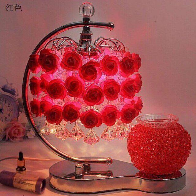 Đèn ngủ hoa hồng