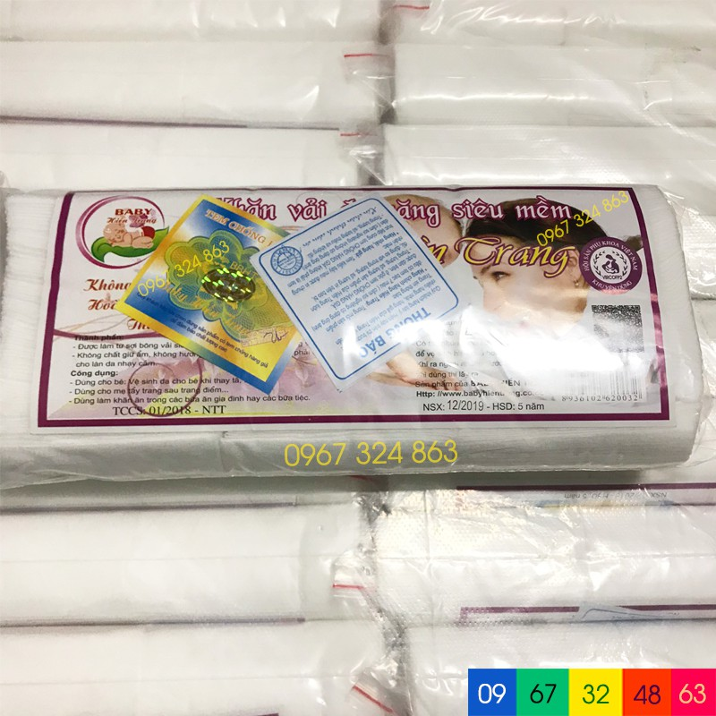 Khăn giấy khô vải đa năng BABY HIỀN TRANG (100g khoảng trên dưới 80 tờ)
