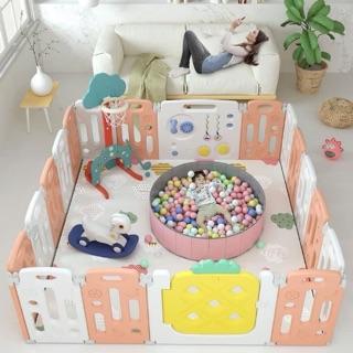 Bộ quây cũi cao cấp và đồ chơi vận động: Cầu trượt xích đu n in 1, nhựa HDPE cao cấp, an toàn cho bé, hàng xuất Châu Âu