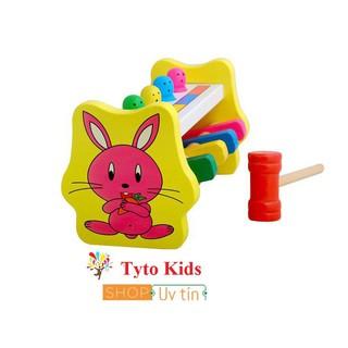 Đồ chơi gỗ cho bé💖FREESHIP💖 Giảm 20K Khi Nhập [DOCHOIGO20K] Bộ đập chuột hình thỏ