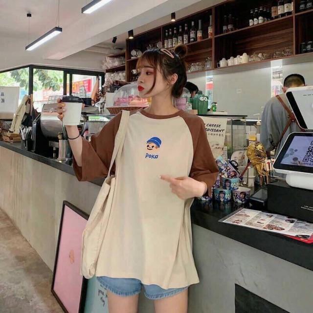 Áo phông POKO free size dưới 65kg