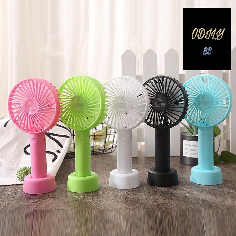 Quạt Cầm Tay Mini Để Bàn Sạc Pin Tích Điện 3 Tốc Độ Gió Nhỏ Gọn Nhiều Màu Kèm Dây Đeo Minifan N9