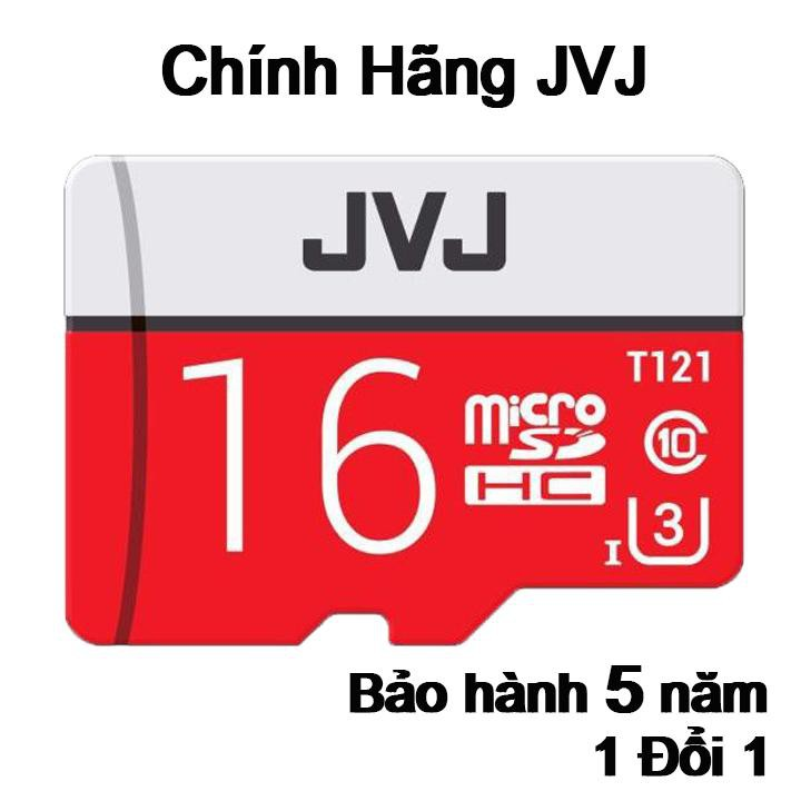 Thẻ nhớ 16Gb JVJ Pro U3 Class 10 - Chuyên dụng CAMERA