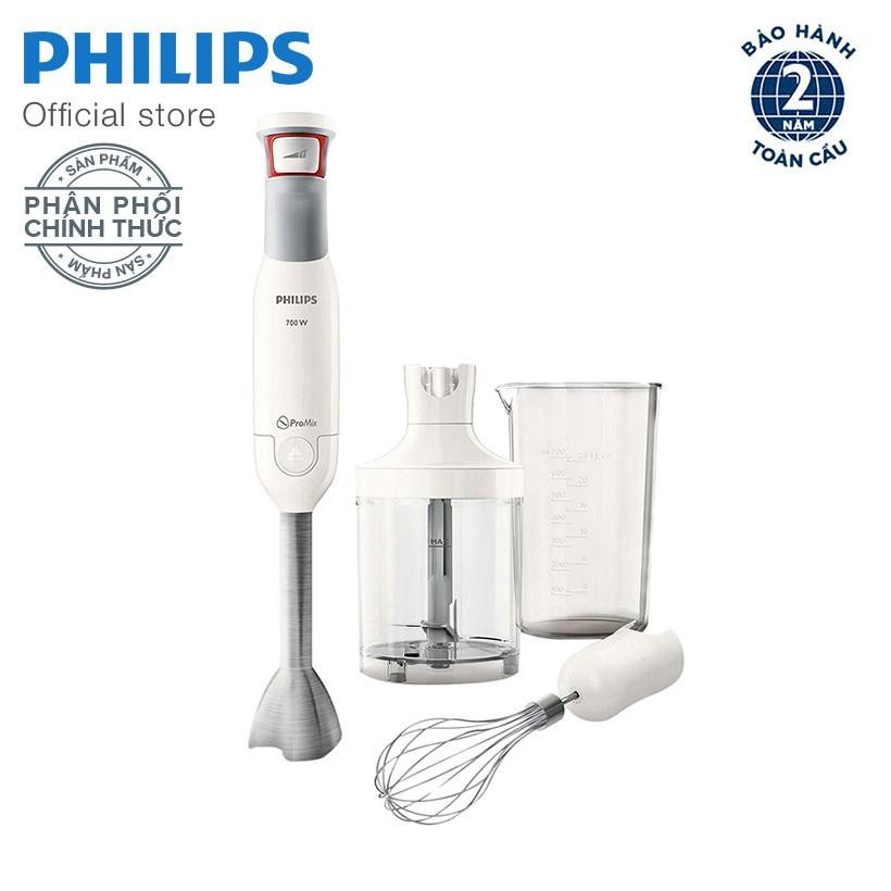 Máy xay sinh tố cầm tay Philips HR2642/00 (Trắng) - Hàng phân phối chính thức