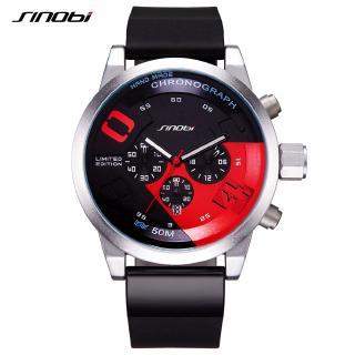 Đồng hồ đeo tay Sinobi dây đeo bằng cao su có chức năng bấm giờ sáng tạo thời trang cho nam