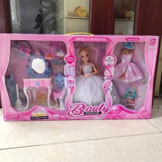 Bộ đồ chơi nhà búp bê thời trang cho bé gái