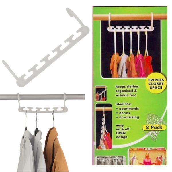 Set 8 móc treo quần áo thông minh tiết kiệm diện tích mẫu mới