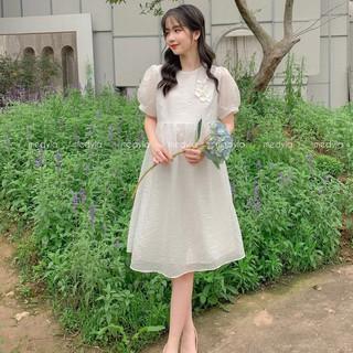 Váy bầu thiết kế 2 lớp tơ lót lụa cho bầu đi đám cưới, đi làm cực xinh - Đầm bầu công sở Medyla - VS684 thumbnail