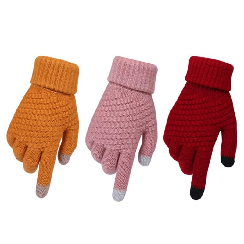 [Mã FAWINTER hoàn 15% xu đơn 99K] Đôi găng tay len chống nắng hay giữ ấm Găng tay màn hình cảm ứng mùa đông