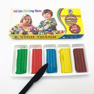 Hộp đồ chơi đất sét nặn thủ công thơm Vĩnh Thành (5 màu)