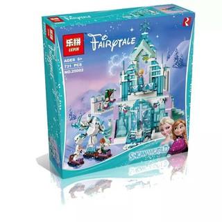 (có sẵn) bộ đồ chơi lắp ráp Lego 41148 Lepin 25002 Cung Điện Băng Huyền Bí Của Elsa
