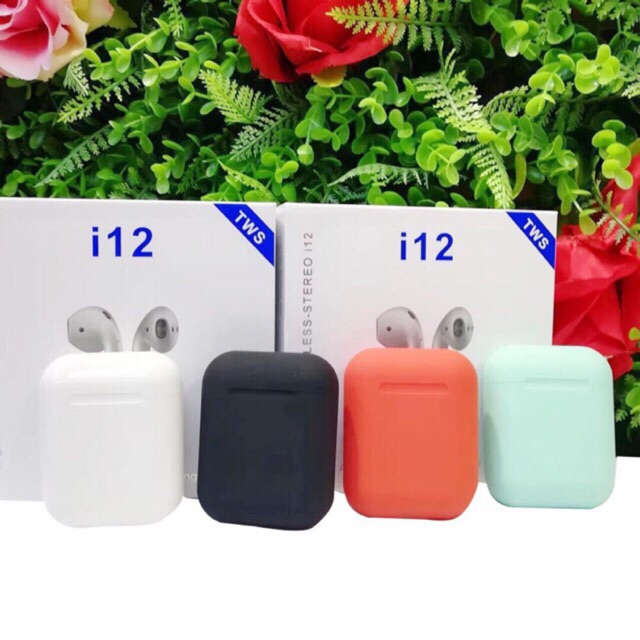 Tai Nghe Bluetooth I12 TWS 5.0 Cảm Ứng Vân Tay Bảo Hành Lỗi 1 Đổi 1