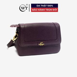 Túi Xách Nữ Có Quai Đeo Da Bò Cao Cấp Màu Tím WT Leather 0919.8 thumbnail