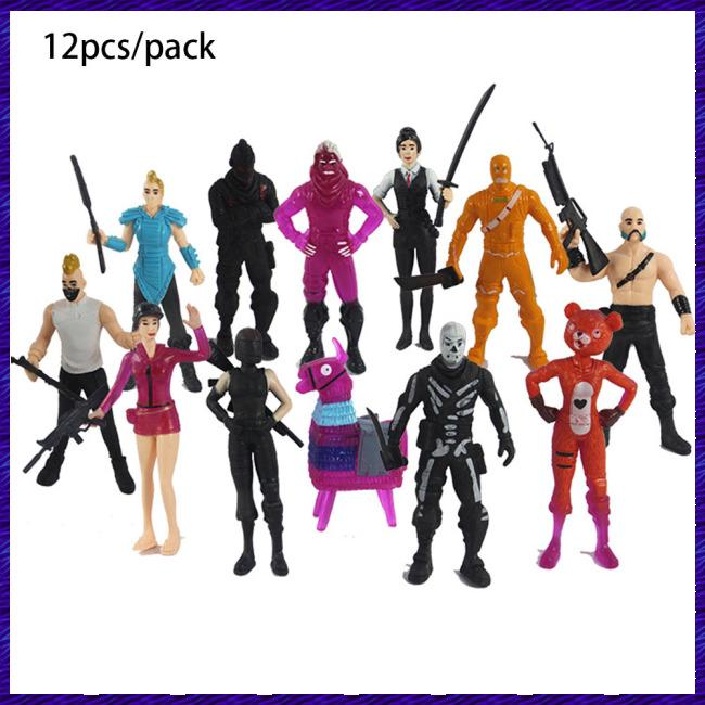 12pcs/set Popular Game Figure Toys Fortress Night Character Model Doll Toy