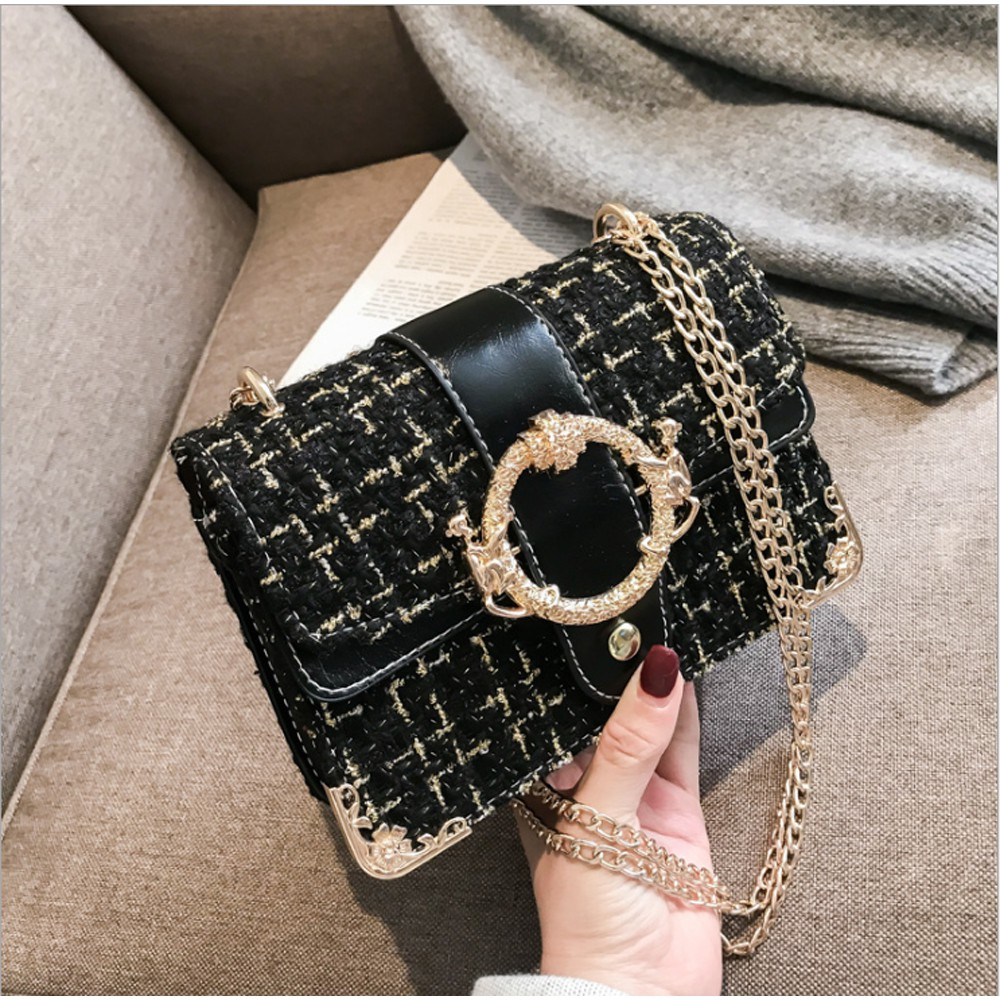 Túi xách tay nữ,túi đeo chéo nữ dạ nẹp viền BH 288