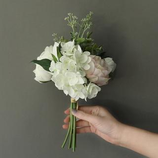 1 bó hoa mẫu đơn giả temelo, đồ trang trí lễ hội đám cưới Tiệc tự làm, hoa mẫu đơn nhân tạo-198-GROCERYVN