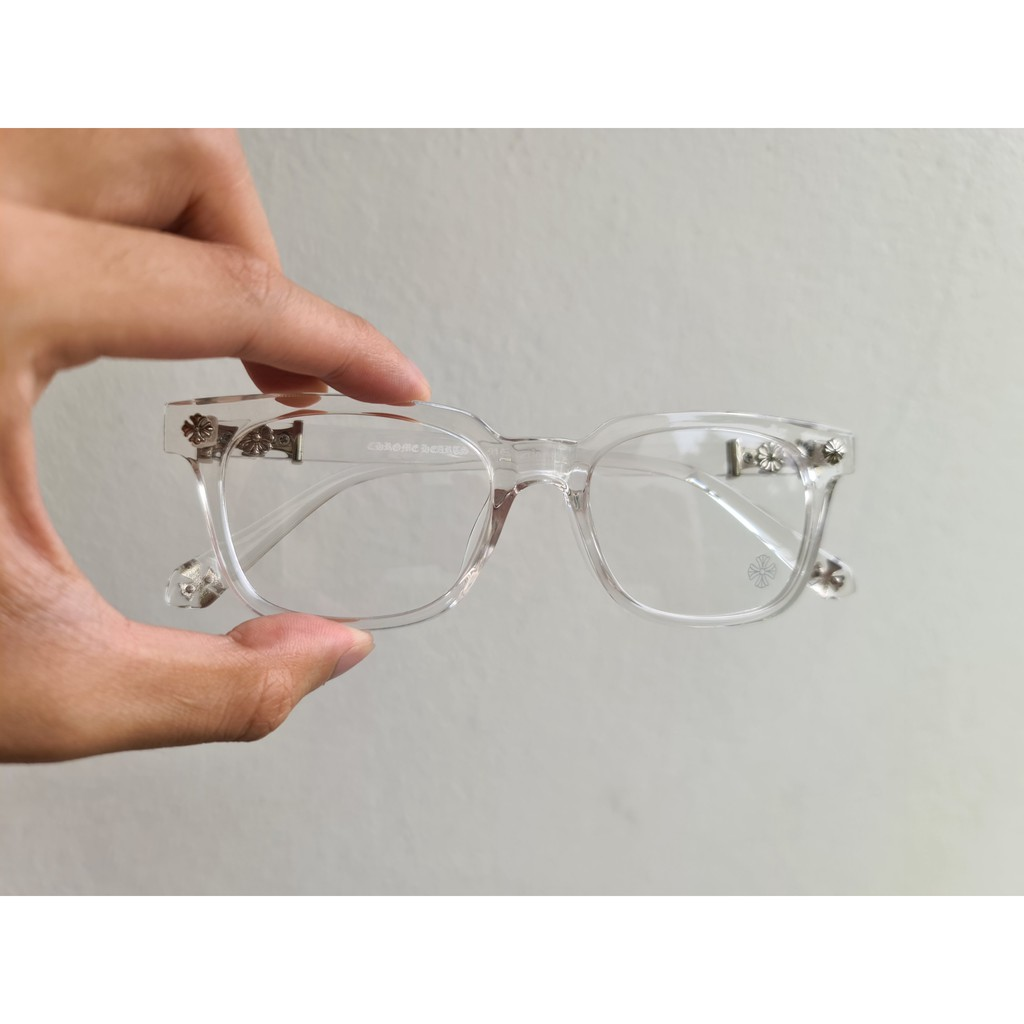 Kính mắt thời trang – Kính mắt thời trang cận loạn Unisex Cox nhựa Acetate – COX02 – Màu trong