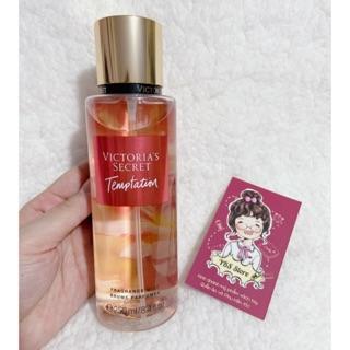Chuẩn Auth Bill Mỹ Temptation Nước hoa Xịt thơm toàn thân Hương Nước Hoa Victoria s Secret Fragrance Mist 250ml thumbnail