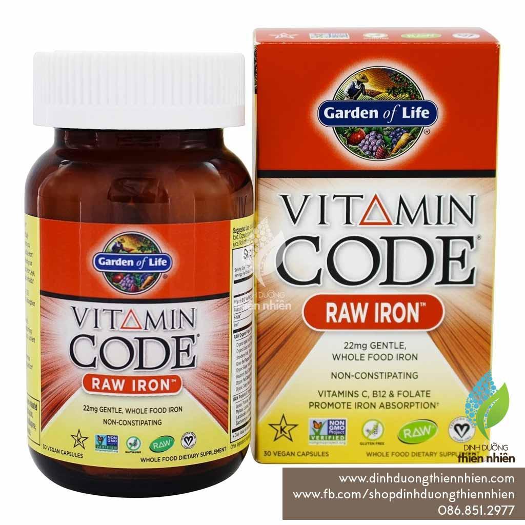Viên Sắt Hữu Cơ Vitamin Code của Garden of Life, 30 Viên - 2515896 , 662556511 , 322_662556511 , 400000 , Vien-Sat-Huu-Co-Vitamin-Code-cua-Garden-of-Life-30-Vien-322_662556511 , shopee.vn , Viên Sắt Hữu Cơ Vitamin Code của Garden of Life, 30 Viên