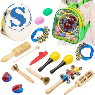 Musical Instrument Toys for Kids – 15 pcs Percussion Set for Toddlers Preschool Educational Learning